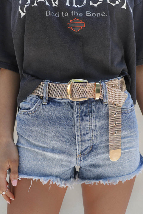 Mighty Gold Mesh Belt