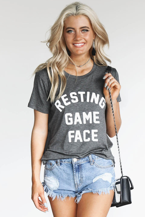 Resting Game Face Charcoal Jersey T-shirt