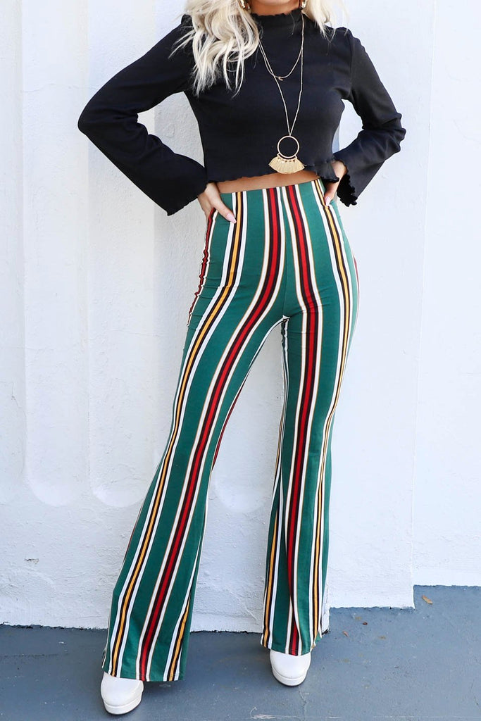 Near Me Stripe Pull On Flare Pants