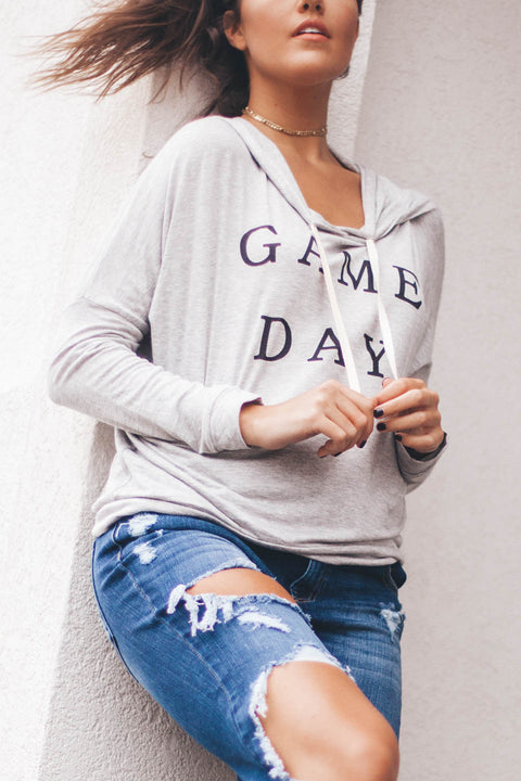 Game Day Heather Grey Hoodie - Amazing Lace