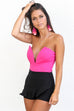 My Number Fuchsia Deep V Bodysuit