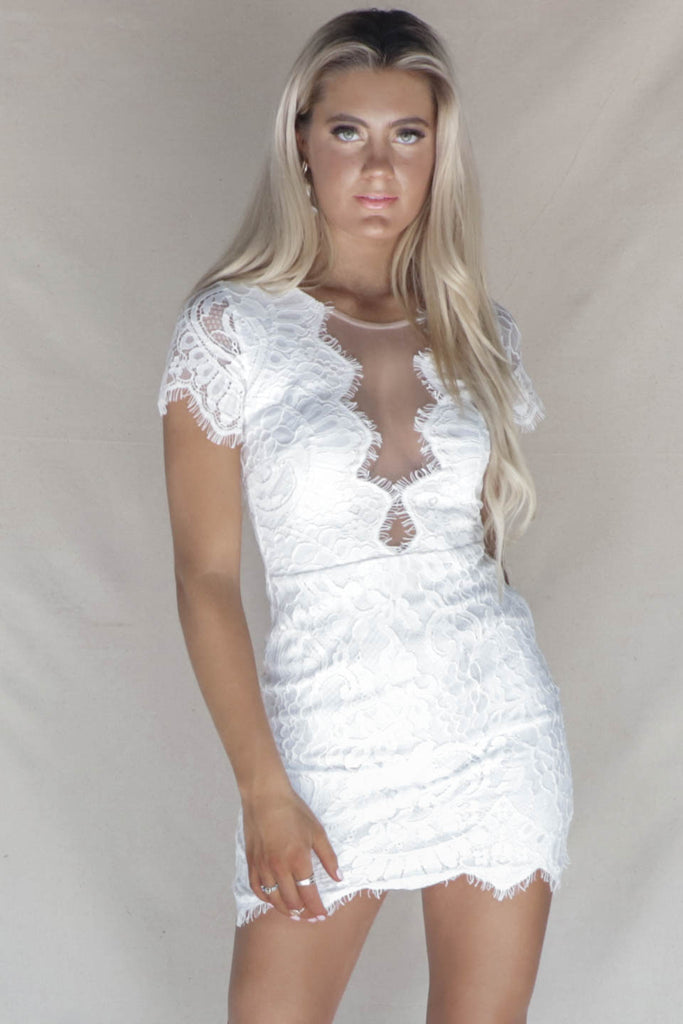f6a07e419f0e Fast Love White Lace Mini Dress. Images / 1 / 2 ...
