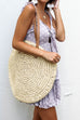Trade Places Oversized Straw Round Bag