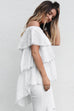 Know By Now White Distressed Detail Top