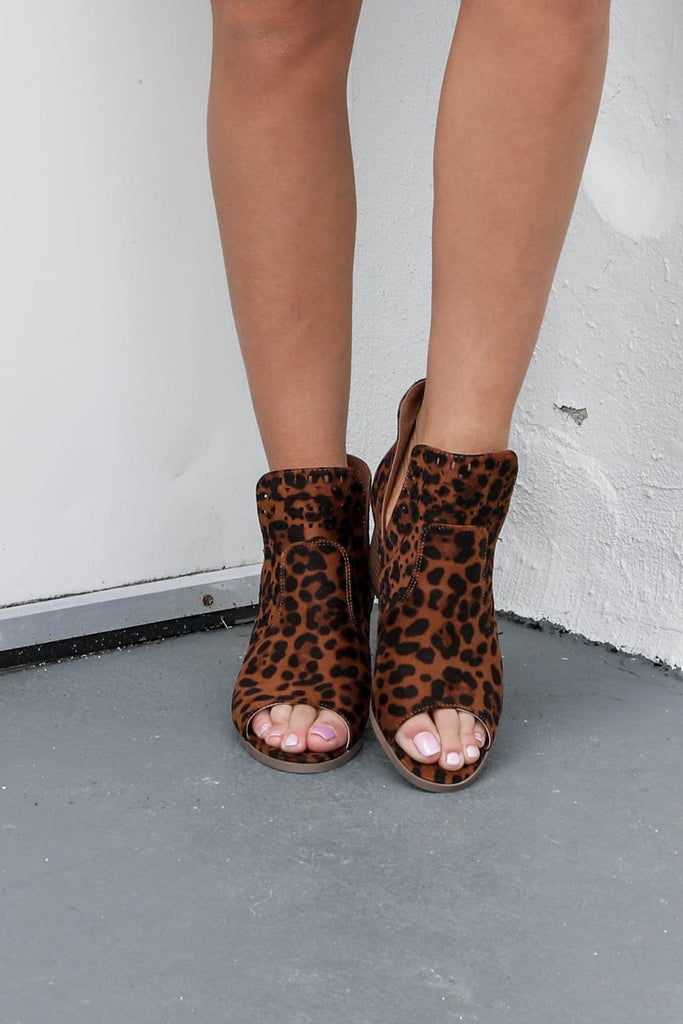 Finding Happiness Leopard Booties