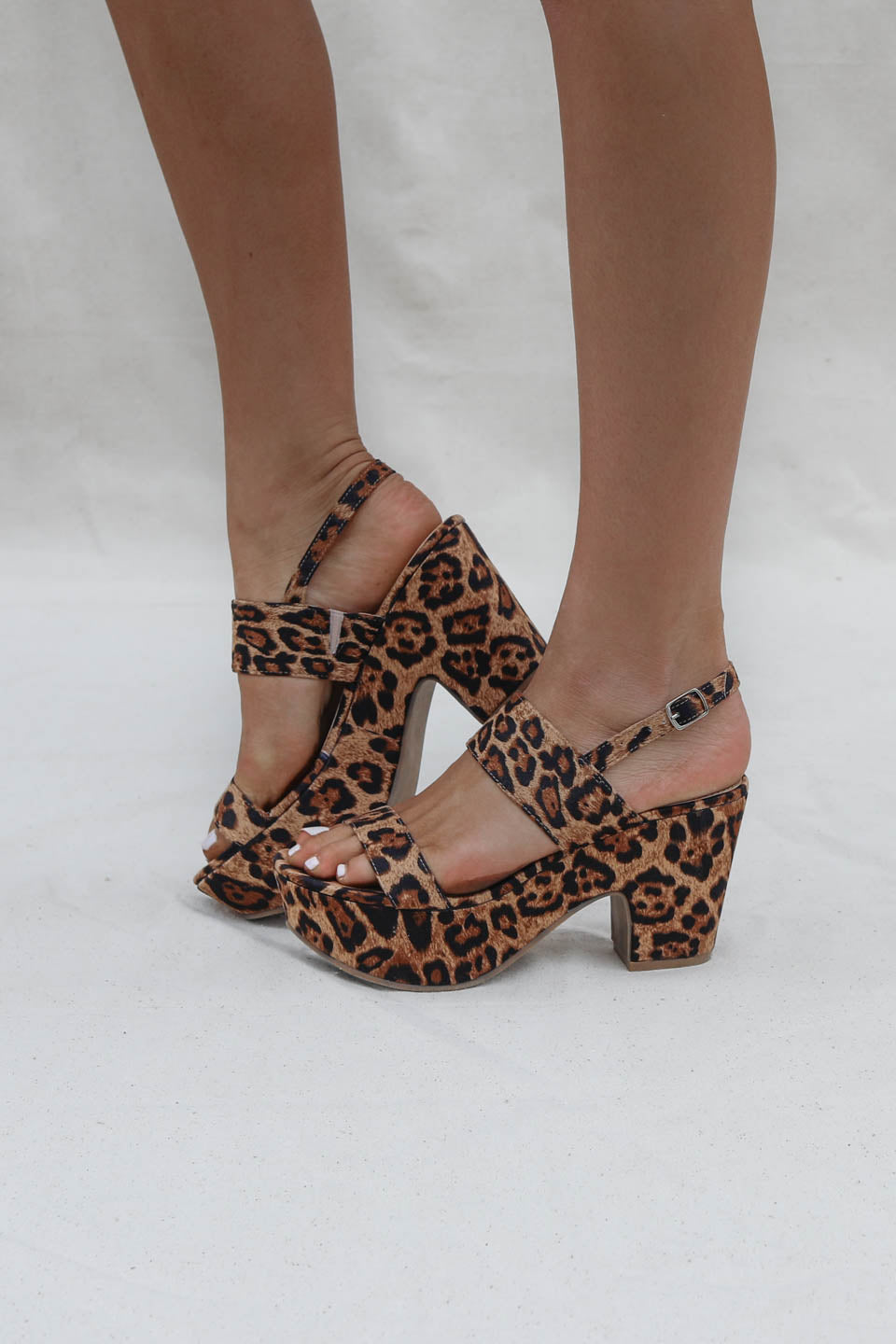 All Inclusive Leopard Platform Heel