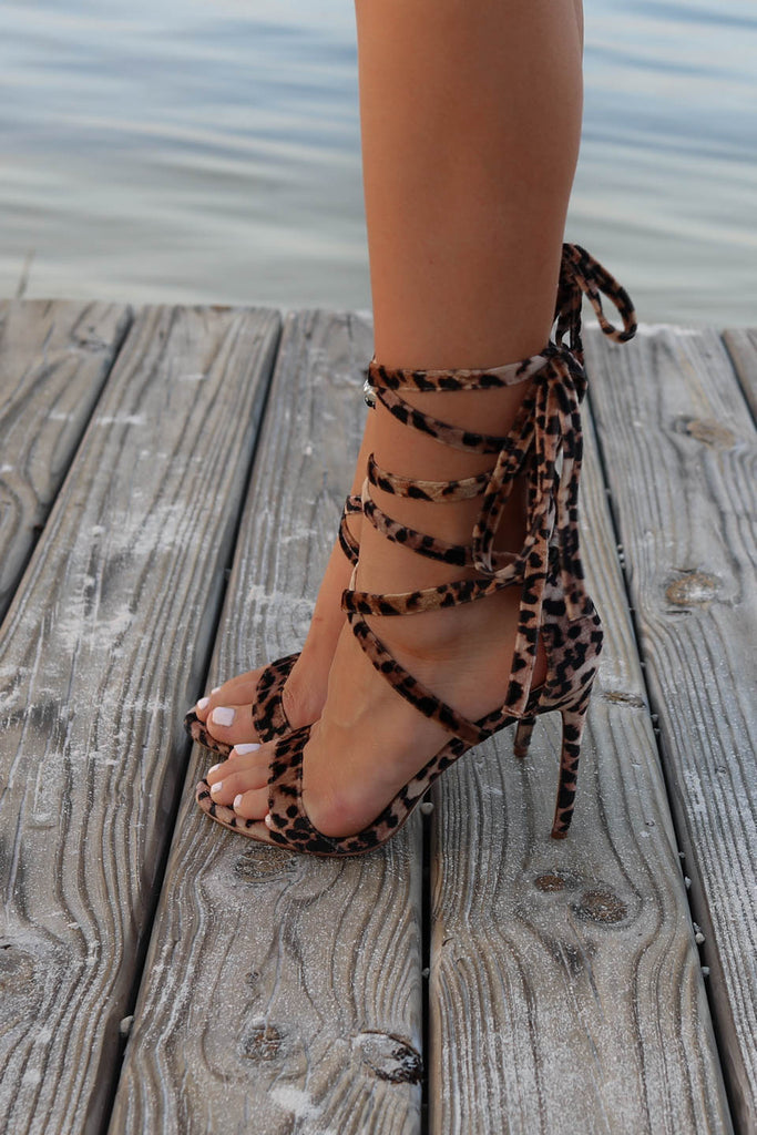 b5642dfa16 Soulmate Lace Up Strappy Leopard Heel. Images / 1 / 2 ...