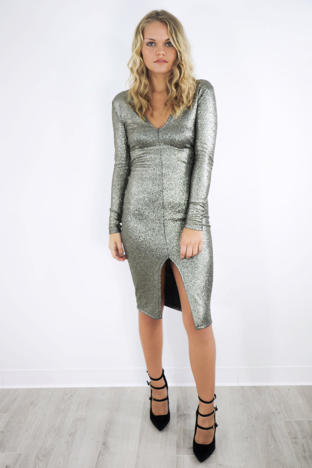 Exception To The Rule Metallic Dress - Amazing Lace