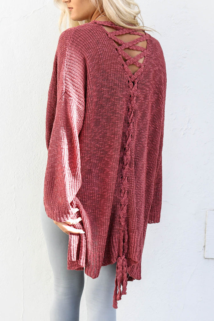 All Things Pretty Scarlet Knit Open Sweater Cardigan - Amazing Lace