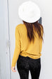 For A Night Mustard Waffle Knit Thermal Top