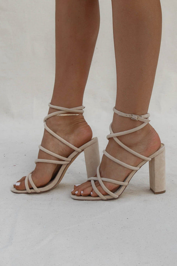3ee525bf78f Hotel Lobby Nude Strappy Block Heel – Amazing Lace