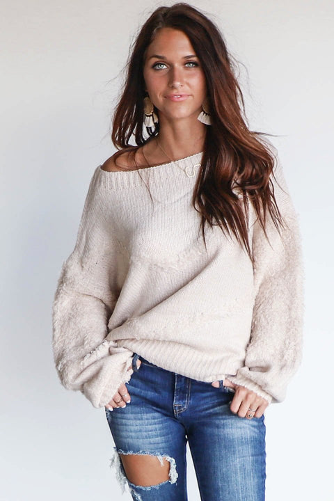 Lighten Up Cloud Batwing Pullover Sweater