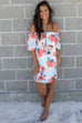 In Milan Cream Off The Shoulder Floral Dress - Amazing Lace