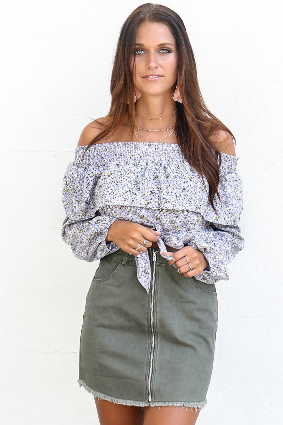 Craving Adventure Army Green Zipper Skirt