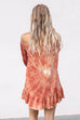 Mark Your Canvas Cinnamon Tie Dye Dress - Amazing Lace