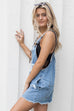 Remember Me Distressed Denim Overall Dress