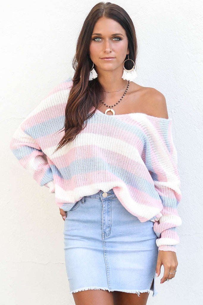 Candy Coated Open Back Knot Sweater