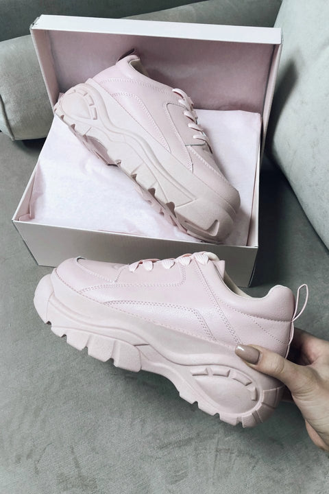 Come Thru Light Pink Platform Dad Sneaker