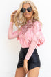Stopping Time Blush Tassel Bodysuit
