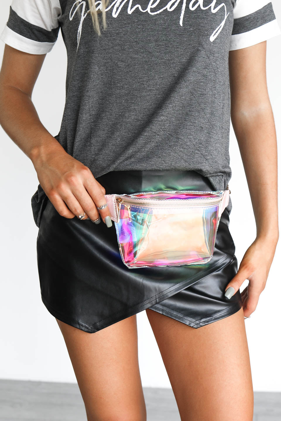 Game Day Clear Translucent Chain Belt Bag