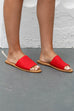 Take It Slow Red Band Sandal