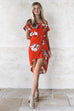 Life Is Good Red Floral Dress - Amazing Lace