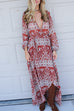 Colorado Rust Overwrap Maxi Dress - Amazing Lace