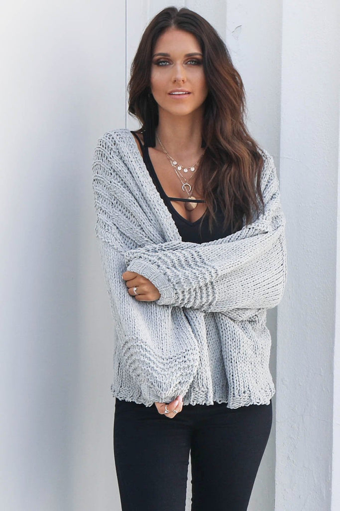 Without Me Sage Chenille Cardigan