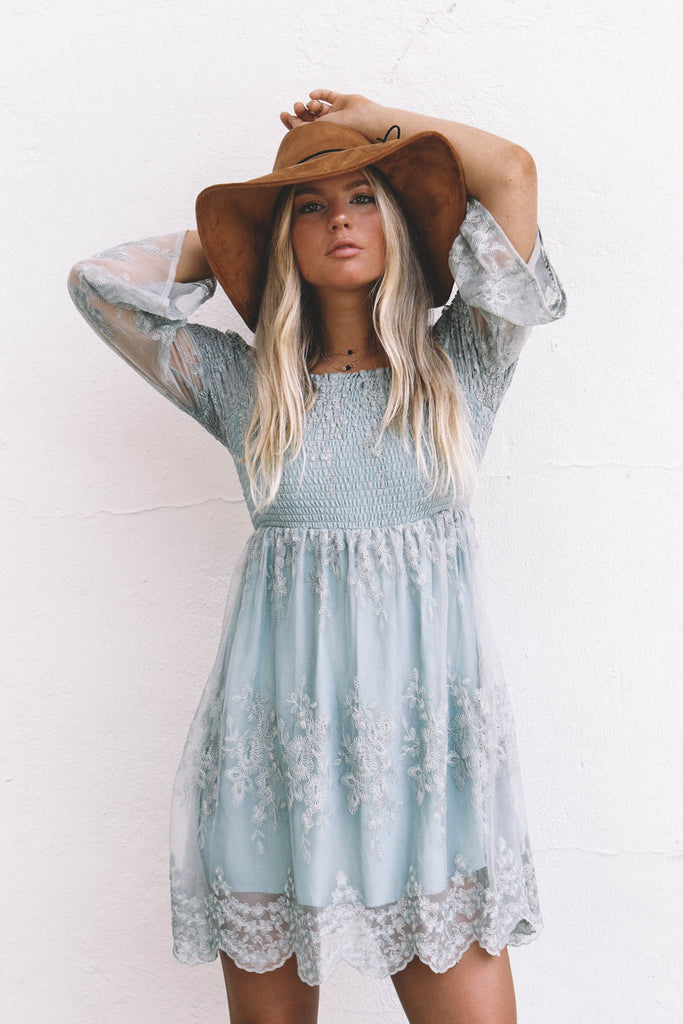 Let Me Be Yours Sage Lace Dress - Amazing Lace