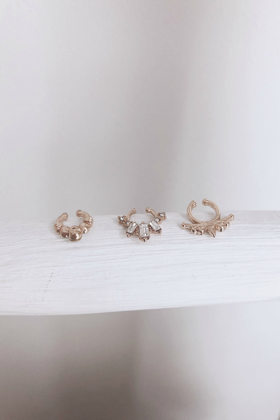 Robyn Gold Faux Septum Ring Set