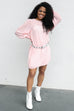 SZ L No Games Pink Polkadot Dress