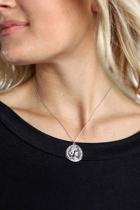 You Forever White Gold Coin Necklace