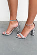 SZ 10 What Comes Next Snakeskin Block Heels