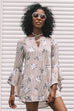 Free Falling Taupe Bell Sleeve Dress - Amazing Lace