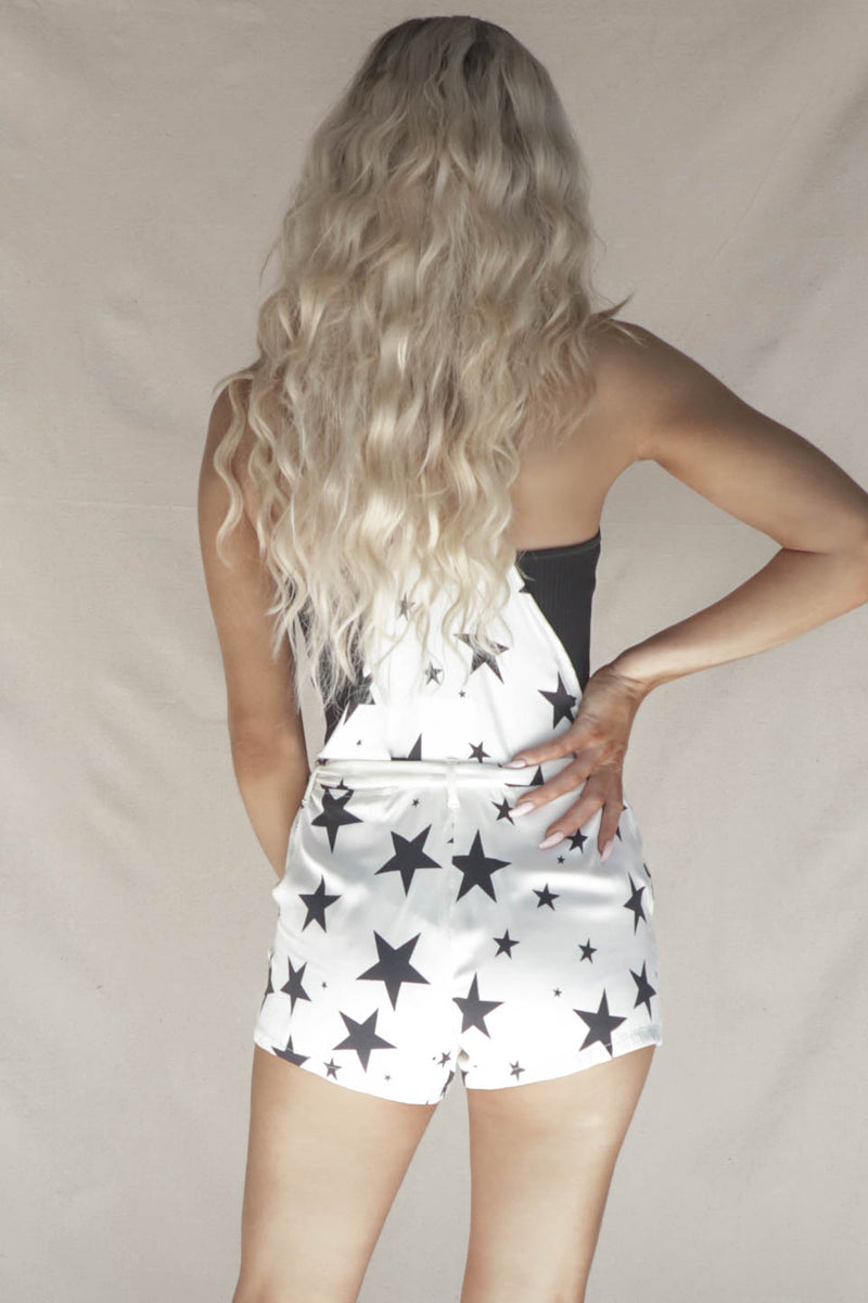 CHASER Heirloom Woven Flouncy Star Overalls