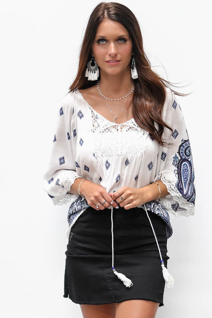 Cool Waters Boho Beach Top