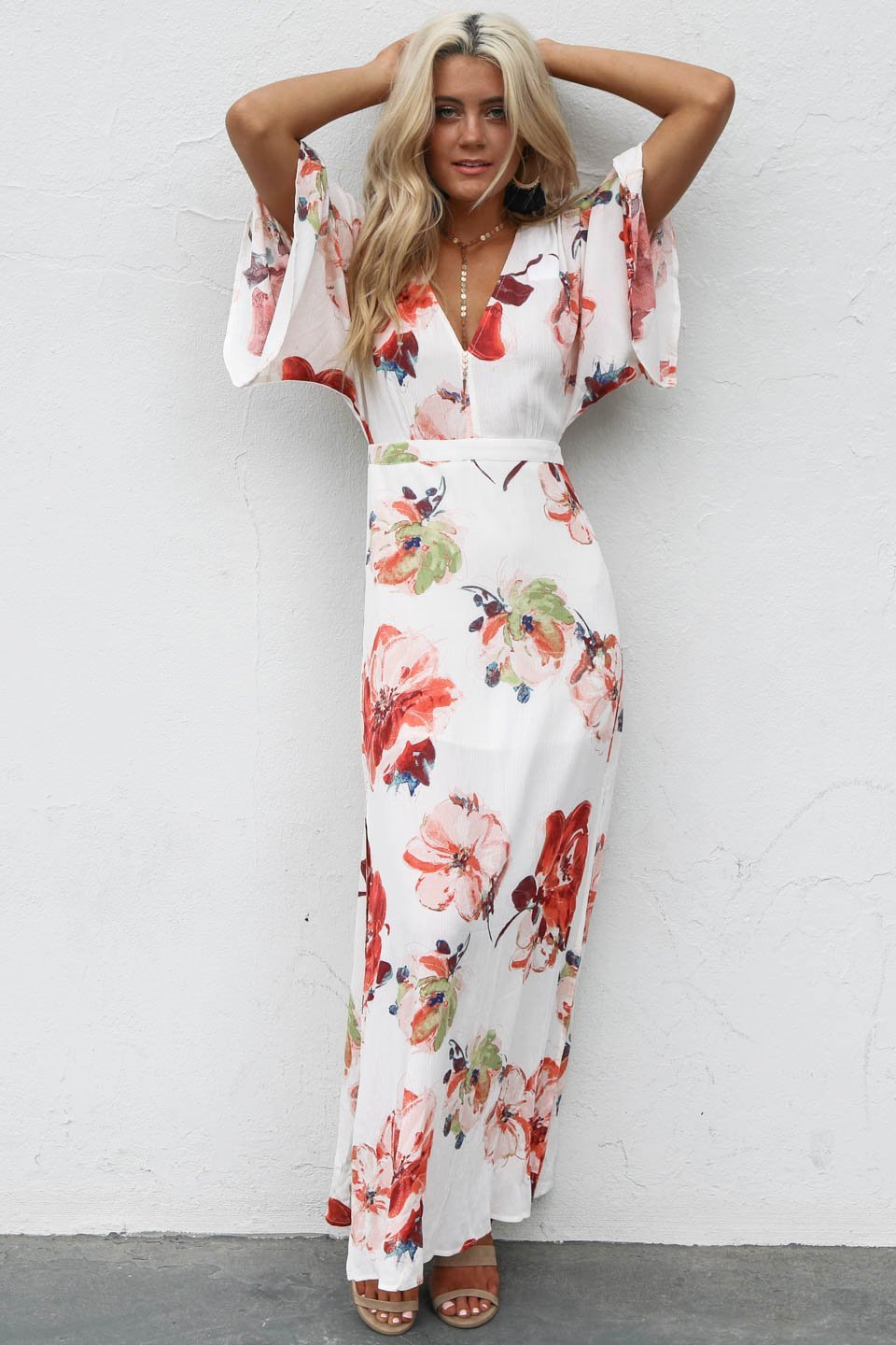 In Paradise Floral Maxi Dress