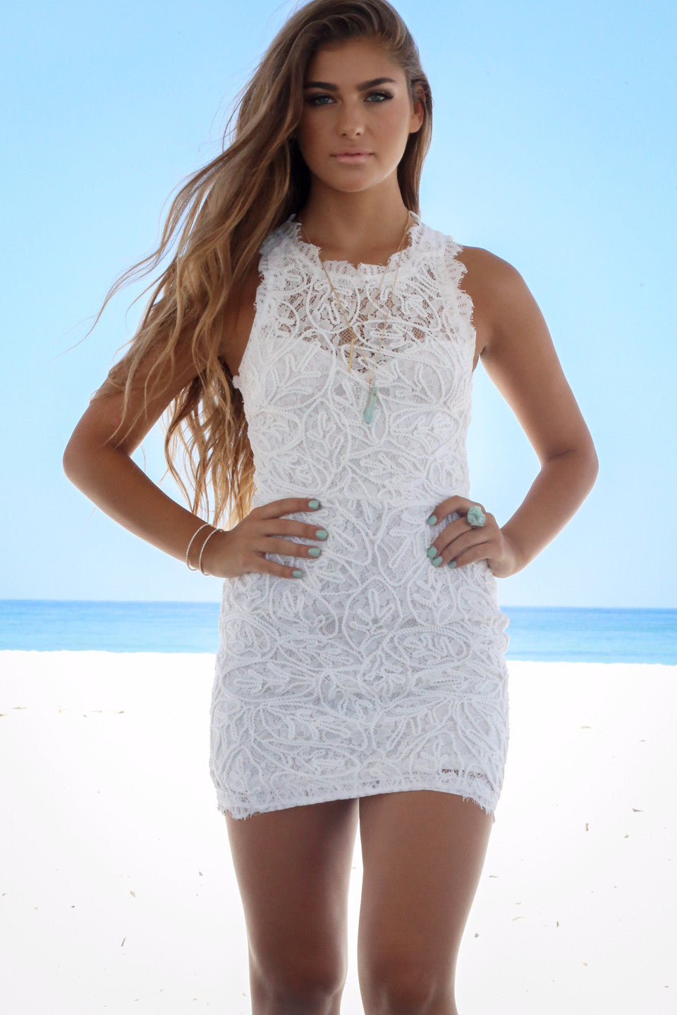 White Amazing lace dresses pictures