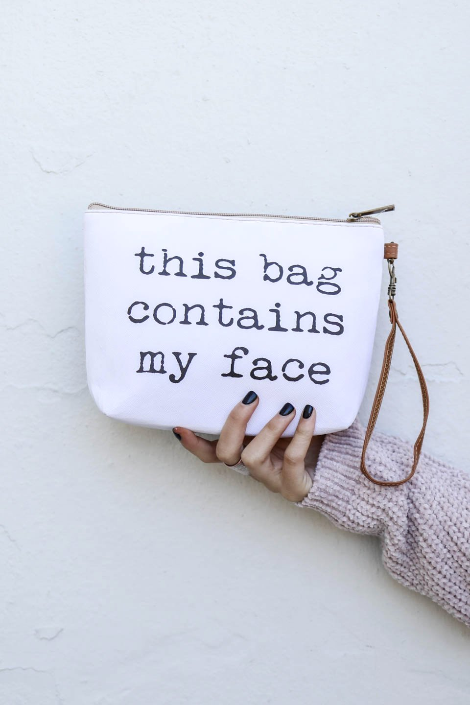 White Make Up Bag