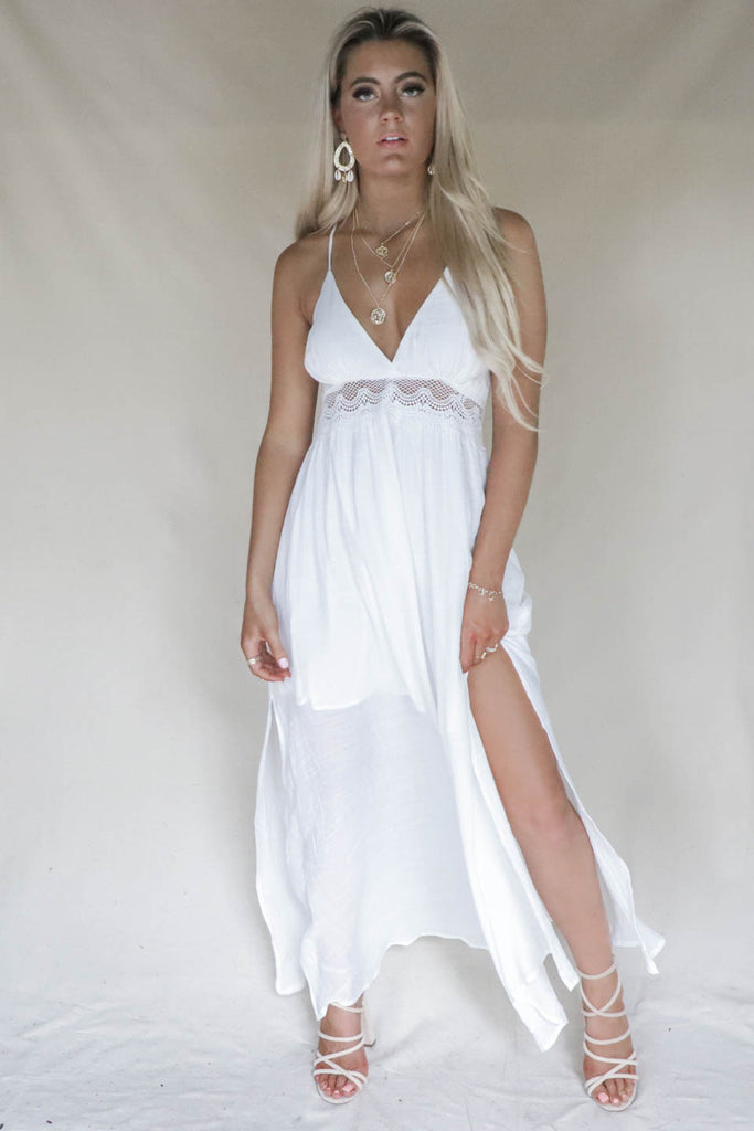 80cecb2724 Daniela White Maxi Beach Dress – Amazing Lace