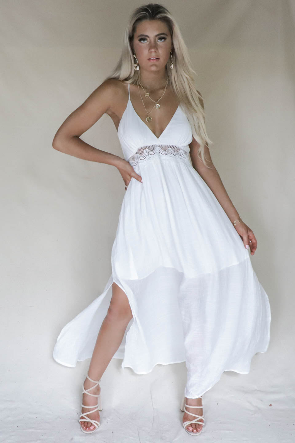 94680c77d3 Daniela White Maxi Beach Dress Daniela White Maxi Beach Dress ...
