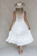 Chateau White Peasant Dress