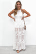 Day Dreamer White Lace Maxi Romper