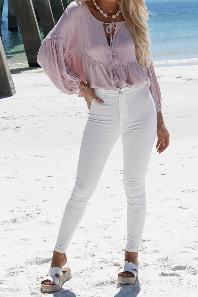 Come Alive White High Waisted Skinny Jean