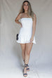 Indio White Strapless Corset Dress