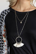 Braden Tassel Coin Pendant Necklace