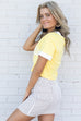 Blondie Yellow Short Sleeve Graphic Top