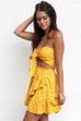Ocean Love Mustard Open Knot Dress