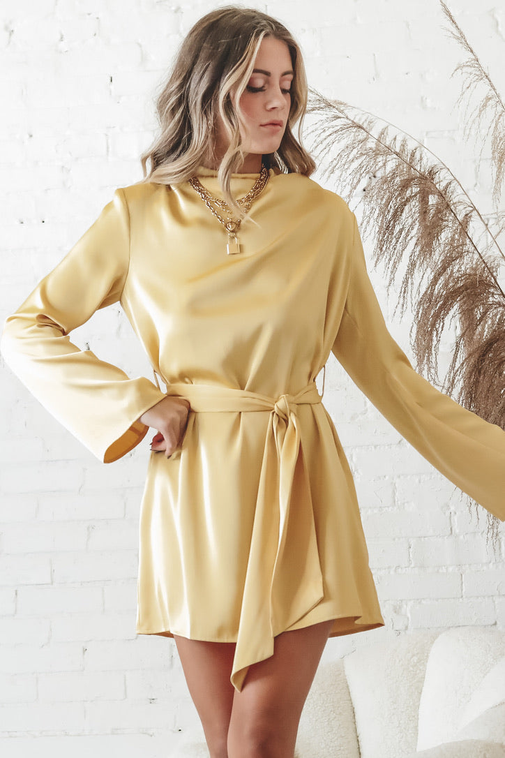PRETTY LAVISH Jayda Cowl Neck Dress