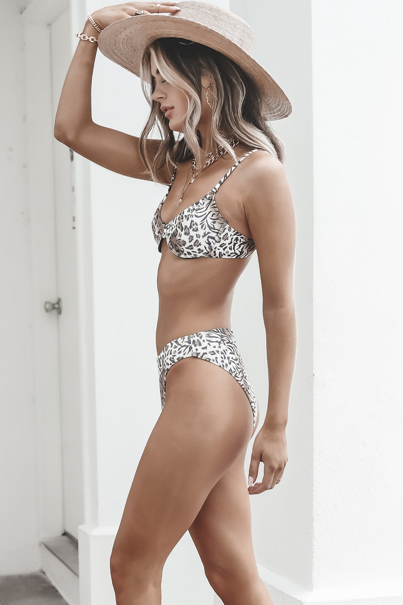 Into The Wild Leopard High Waisted Bikini Bottoms